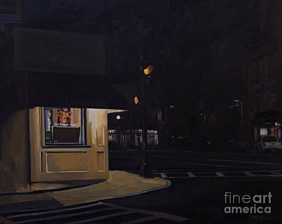 South Boston Painting - Broadway Nocturne II by Deb Putnam