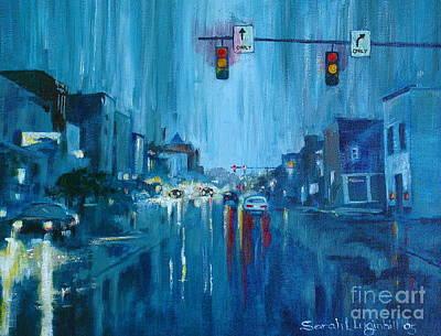 Broadway Rain Original by Sarah Luginbill