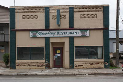 Photograph - Broadway Restaurant by Ron Read