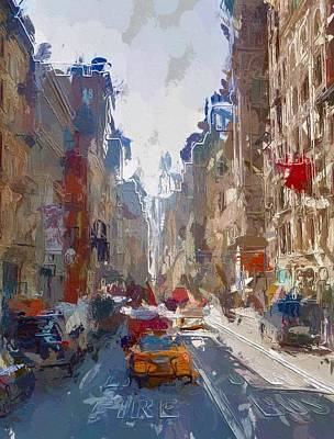 Colorful Abstract Mixed Media - Broadway by Steve K