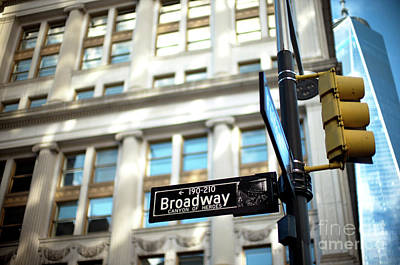 Photograph - Broadway Street Sign by John Rizzuto