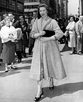 C.b. Radio Photograph - Broadway, Television And Radio Star, Carmel Quinn, Outside Of Cbs Studio. 1955 by Anthony Calvacca