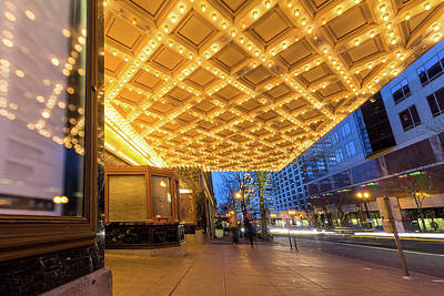 Photograph - Broadway Theater Marquee Lights In Downtown by David Gn