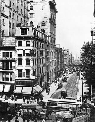 Photograph - Broadway Traffic, C1892 by Granger