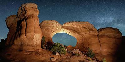 Digital Art - Brobroken Arch Night Sky  by OLena Art Brand