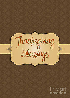Photograph - Brocade Thanksgiving Blessings by JH Designs