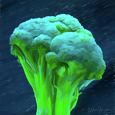 Broccoli Painting - Broccoli 01 by Wally Hampton