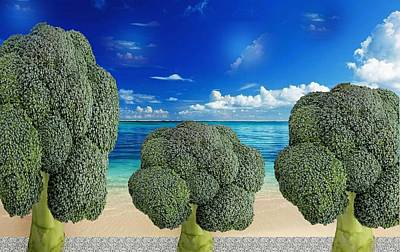 Broccoli Avenue Art Print by Manfred Lutzius