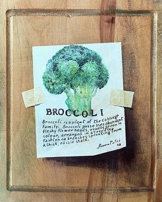 Broccoli Painting - Broccoli by Franco Puliti