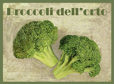 Food And Beverage Royalty-Free and Rights-Managed Images - Broccoli Da Orto by Guido Borelli