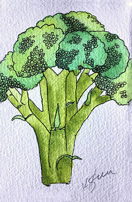 Broccoli Painting - Broccoli by Kathy Sturr