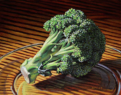 Broccoli Painting - Broccoli by Kenneth Cobb
