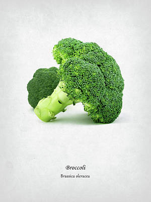 Broccoli Print by Mark Rogan