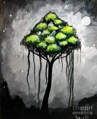 Broccoli Painting - Broccoli Tree by Lesli Burke