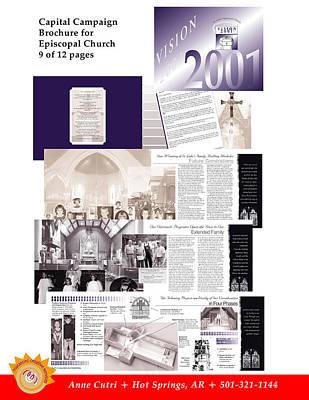 Digital Art - Brochure For St. Luke's Episcopal Church by Anne Cameron Cutri