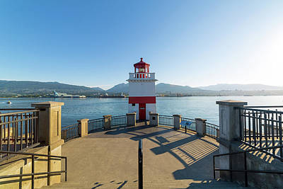 Photograph - Brockton Point Lighthouse At Stanley Park by David Gn