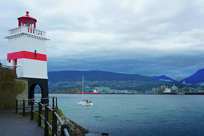 North Vancouver Photograph - Brockton Point Lighthouse In Stanley Park by Art Spectrum