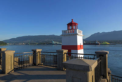 Photograph - Brockton Point Lighthouse In Vancouver Bc by David Gn