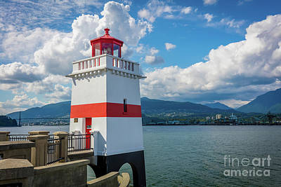 British Columbia Photograph - Brockton Point Lighthouse by Inge Johnsson