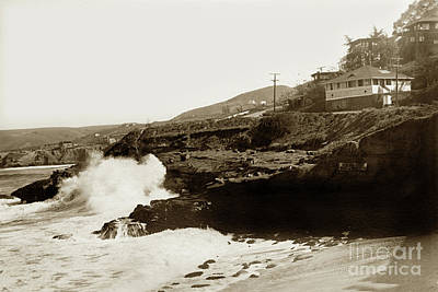 Photograph - Brockton Villa Above La Jolla Cove Circa 1920 by California Views Mr Pat Hathaway Archives