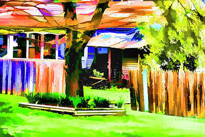 Digital Art - Brojen Fence by Rick Bragan