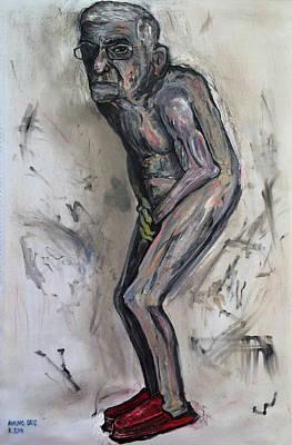 Larry David Painting - Broke Billionaire by Antonio Ortiz