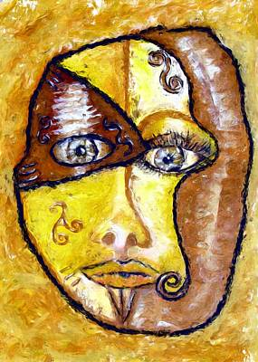 Painting - Broken - A Mask by Shelley Bain