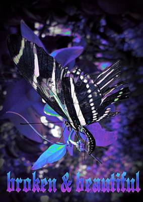 Photograph - Broken And Beautiful Butterfly by David MCKINNEY