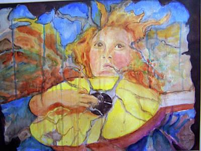 Art Print featuring the painting Broken Angel by P Maure Bausch