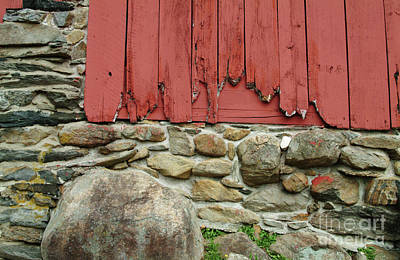 Repaint Photograph - Broken Barn Wall by Georgia Sheron