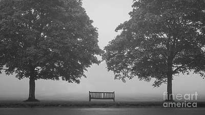 Overhang Photograph - Broken Bench by Richard Thomas