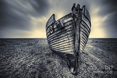 Urban Scenes Mixed Media - Broken Boat by Svetlana Sewell