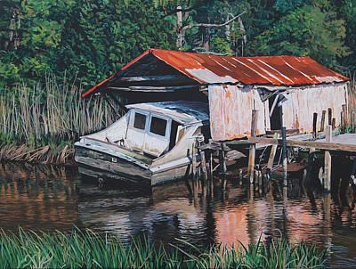 Broken Boat Art Print