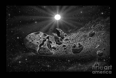 Cosmic Space Drawing - Broken Comet by Murphy Elliott