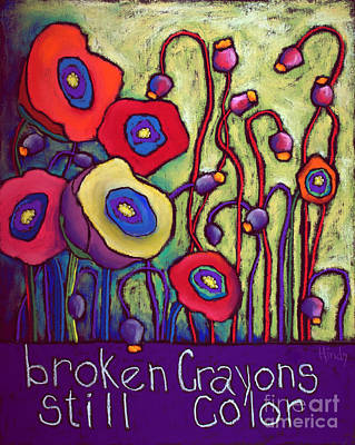 Broken Crayons Original by David Hinds
