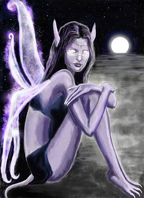 Stanford Mixed Media - Broken Dark Fairy by Amber Stanford