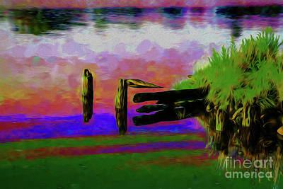 Digital Art - Broken Dock by Rick Bragan