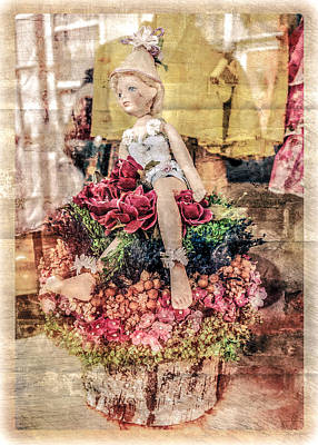Photograph - Broken Doll In The Window by Melinda Ledsome