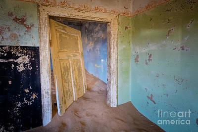 Delapidated Photograph - Broken Door by Inge Johnsson