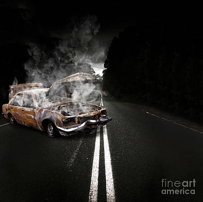 Jalopies Photograph - Broken Down Vehicle by Jorgo Photography - Wall Art Gallery