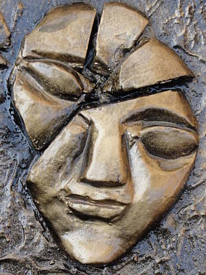 Broken Face Print by Rajesh Chopra