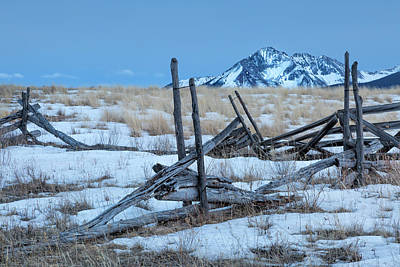 Photograph - Broken Fence At Twilight by Denise Bush