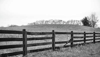 Photograph - Broken Fence Black And White 1110 by Ericamaxine Price