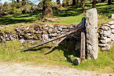 Photograph - Broken Gate On Dartmoor by Helen Northcott