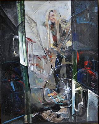 Woe Painting - Broken Glass by Natalia Kutsia