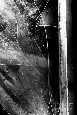 Broken Glass Window Art Print