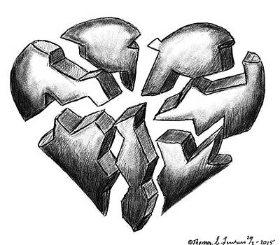 Digital Art - Broken Heart by ThomasE Jensen