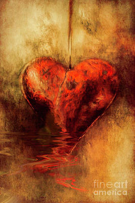 Digital Art - Broken Hearted by Elaine Teague