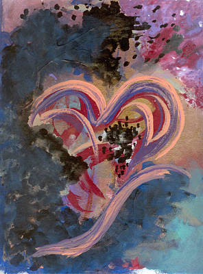 Broken Hearted Art Print by Helene Henderson