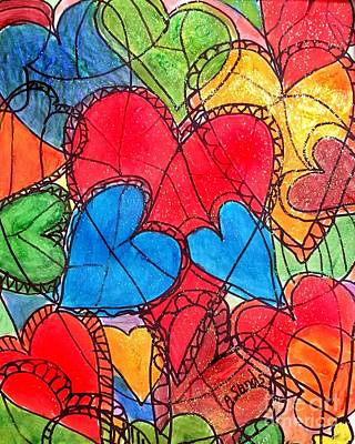 Painting -  Hearts Alive by Anne Sands
